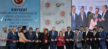 Bakan Pekcan Güneş Enerjisi Üretim Tesisi'nin açılışına katıldı