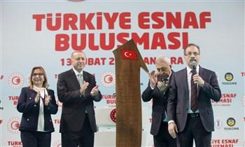 """""""Türkiye Esnaf Buluşması"""" Cumhurbaşkanı Recep Tayyip Erdoğan'ın teşrifleriyle gerçekleştirildi"""