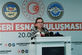 Bakan Pekcan Kayseri'de Esnafla Bir Araya Geldi