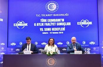 Eximbank'ın 6 aylık faaliyet ve hedefleri