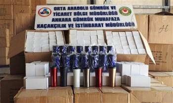 Çankırı'da 2 Milyon Liralık Kaçak Termos Bardak Ele Geçirildi