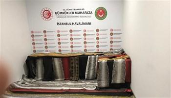 İstanbul Havalimanı'nda 355 Metre Yılan Derisi Yakalandı