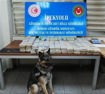 Habur'da 105 kilogram uyuşturucu ele geçirildi
