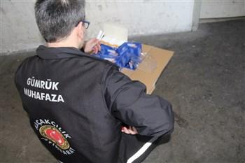Gümrük Muhafaza Ekiplerince Kapıkule'de 14 milyon 750 bin makaron ele geçirildi