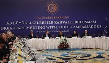 Ticaret Bakanı Pekcan, AB Ülkelerinin Büyükelçileriyle Bir Araya Geldi