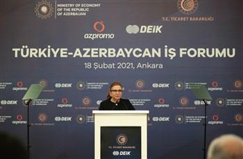 Ticaret Bakanı Ruhsar Pekcan, Türkiye-Azerbaycan İş Forumu'na katıldı