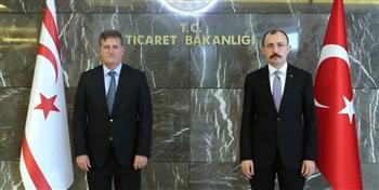 Ticaret Bakanı Muş, KKTC Başbakan Yardımcısı Erhan Arıklı ile görüştü