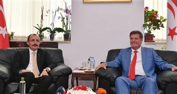 Bakan Muş, KKTC Başbakan Yardımcısı, Ekonomi ve Enerji Bakanı Erhan Arıklı'yı ziyaret etti