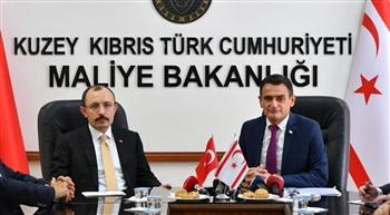 Bakan Muş, KKTC Maliye Bakanı Dursun Oğuz'u ziyaret etti