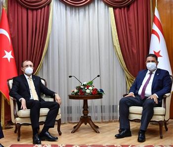 Bakan Muş, KKTC Başbakanı Ersan Saner' i Ziyaret Etti
