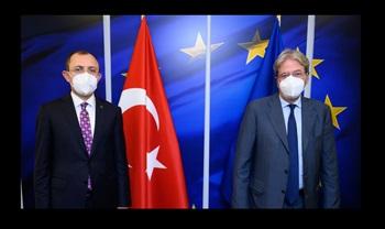 Ticaret Bakanı Muş, AB Komisyonu Ekonomiden Sorumlu Üyesi Gentiloni ile Görüştü