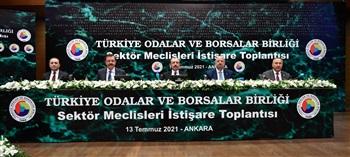 Bakan Muş, TOBB Türkiye Sektör Meclisleri İstişare Toplantısı'nda konuştu