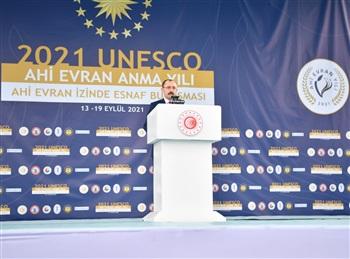 """Ticaret Bakanı Muş, Kırşehir'deki """"Ahi Evran İzinde Esnaf Buluşması""""nda Konuştu"""